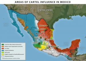 Areas of Cartel Influence in Mexico 2013