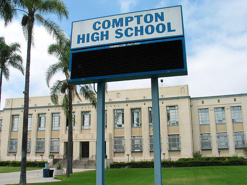 Compton_High_School_billboard