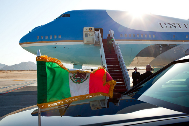 air force one, mexico flag