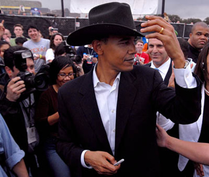 obama wearing stetson